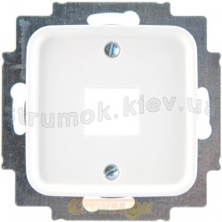 Лицевая накладка 1-одинарная компьютер/телефон RJ-12 / RJ-45 2561-214 ABB Reflex белый цвет