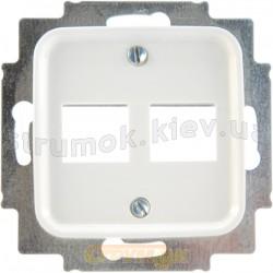 Центральная пластина двойная RJ-12 / RJ-45 2561-02-214 АВВ Reflex белый