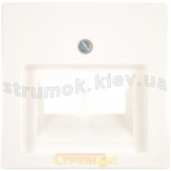 Лицевая накладка 2-двойная RJ 11/12-RJ45 ABB Basic 55 1803-02-94-507 белый цвет