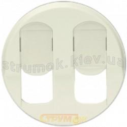 Лицевая накладка 2-двойной компьютерной розетки 2хRJ-45 Legrand Celiane 066236 слоновая кость