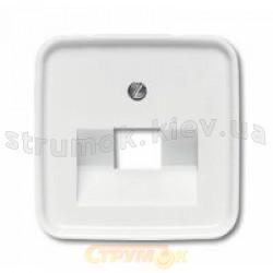 Лицевая накладка компьютерной 1-одинарной розетки RJ-45 1803-214 ABB Reflex белый цвет