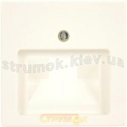 Лицевая накладка розетки 1-одинарной RJ 11/12-RJ45 ABB Basic 55 1803-92-507 слоновая кость