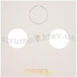 ЛЛицевая накладка розетки TV+R+SAT Fiorena 22004202 Hager / Polo белый цвет