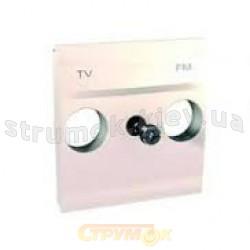 Лицевая накладка розетки TV+R телевизионной Schneider Elrctric Unika  MGU9.440.25 слоновая кость