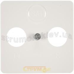 Лицевая накладка TV+R+SAT телевизионной розетки Optima 12004202 Hager / Polo белый цвет