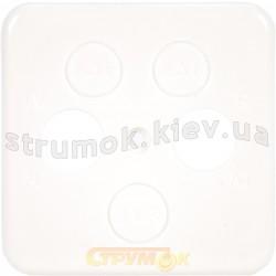 Лицевая накладка TV+R+SAT телевизионной розетки Regina Hager / Polo 13005005 белый цвет