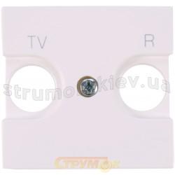 Лицевая накладка TV+R телевизионной розетки ABB Zenit N2250 8 ВL белый цвет