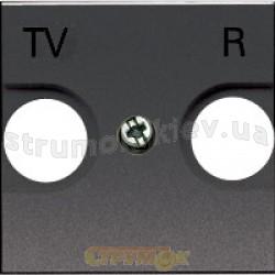 Лицевая накладка ТV+SAT Fiorena металлик 22004209 Hager  Polo