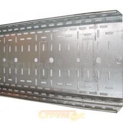 Лоток металлический перфорированный 100х50 ,L-3000 толщина стали 0,7