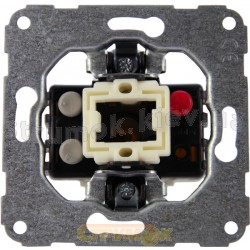Механизм одноклавишного выключателя универсальный 11000102 Polo / Hager