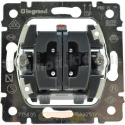 Механизм двухклавишного выключателя Galea Legrand 775805