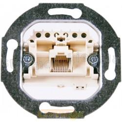Механизм розетки 8-полюсный (RJ 11/12, RJ/45) АВВ Reflex / Bush Duro / Basic 55