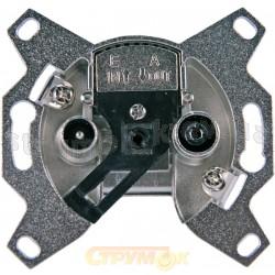 Механизм розетки ТV+R концевой 5011-А3503 ABB Time Element Tango