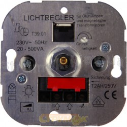 Механизм светорегулятора поворотного 60- 400Вт 11002701 Hager / Polo (галоген/накаливания)