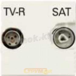 Механизм TV-R-SAT телевизионной розетки спутниковой ABB Zenit 2251.3 BL белый цвет