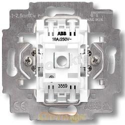 Механизм выключателя 2-клавишного с безвинтовыми зажимами 3559-А05445 ABB
