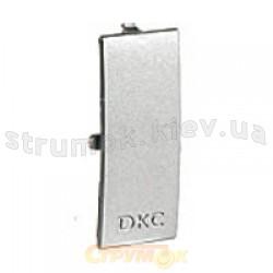 Накладка на стык основания кабельного короба 90х50мм, RAL9016, ДКС