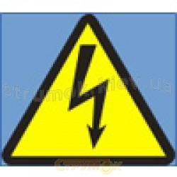 Наклейка Обережно! Електрична напруга! (сторона треугольника 100мм, самоклейка)