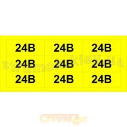 Наклейка обозначение напряжения 24 В(размер 34х17мм, самоклейка)