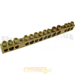 Нулевая шина бруском S.P091 6х9 14/2 отверстия Укрем АсКо A0150120005