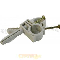 Обойма для труб и кабеля D 32-34 с шурупом