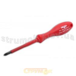 Отвертка диэлектрическая 1000В плоская шлицевая 4х100мм Rexxer 04-432 - RA