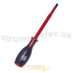 Отвертка диэлектрическая 1000В плоская шлицевая 5.5х125мм Н1030