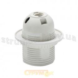 Патрон электрический Е-27 HOROZ HL584 094 002 0001 гладкий белый с шляпкой