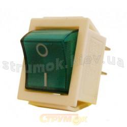 Переключатель KED Аско 1-клавишный с зеленой подсветкой Укрем Аско A0140040016