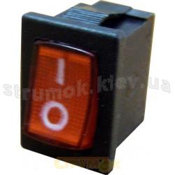 Переключатель YL211-02 1-клавишный с красной подсветкой Укрем Аско A0140040005