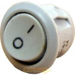 Переключатель YL213-01 1-клавишный круглый серый Укрем Аско A0140040008