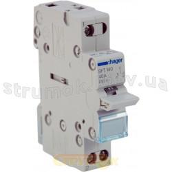 Переключатель ввода резерва SFT140 ( SF119G) Hager трехпозиционный/230В/40А, 1-полюсный, 1м
