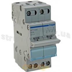 Переключатель ввода резерва трехпозиционный/230В/40А ,2-полюсный,2м,SFT240 (SF219G) Hager