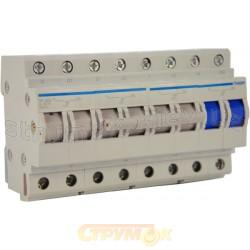 Переключатель ввода резерва трехпозиционный 400В/63А, 3+N 8-полюсный 8м SF463 Hager