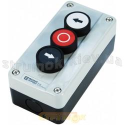 Пост 3-х местный трех кнопочный АСКО XAL-В334 Влево-Стоп-Вправо