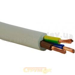 Провод ПВС 3х2,5 ЗЗКМ медный гибкий многожильный соединительный