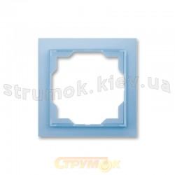 Рамка 1-постовая белый/синий лед 3901M-A00110 41 Neo ABB