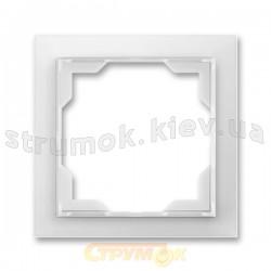 Рамка 1-постовая белый/белый лед Neo 3901M-A00110 01