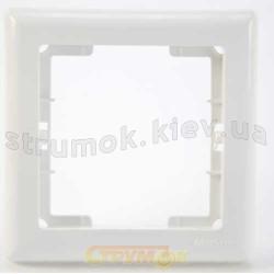 Рамка 1-постовая белый цвет PERA + вставка GES 2101-801-1101