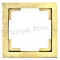 Рамка 1-постовая бежевый цвет PERA GES 2101-801-1102