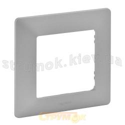 Рамка 1-постовая Legrand Valena 754137 алюминий
