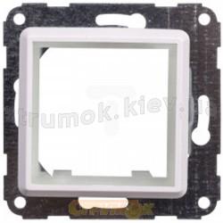 Рамка 1-постовая промежуточная OPTIMA 12008202 Hager / Polo для установки изделий 45x45мм белая