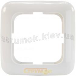 Рамка 1-постовая 2511-214-507 ABB Reflex белый цвет