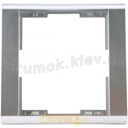 Рамка 1-постовая 3901F-A00110 32 ABB Time серебристый металлик