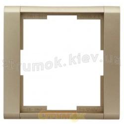 Рамка 1-постовая 3901F-A00110 33 ABB Time шампань / металлик