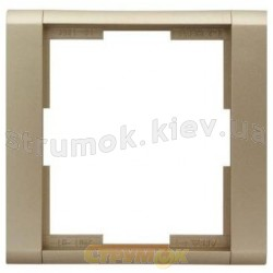 Рамка 1-постовая 3901F-А00110 Time element ABB Tango серебряный металлик