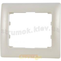Рамка 1-кратная Galea Life Legrand 771501 перламутр/жемчужный