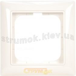 Рамка 1-постовая ABB Basic 55 2511-94-507 белый цвет