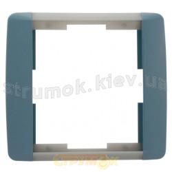 Рамка 1-постовая ABB Time Element 3901E-A00110 23 шторм/серый лед
