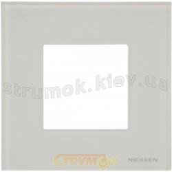 Рамка 1-постовая ABB Zenit N2271 СВ стекло белое
